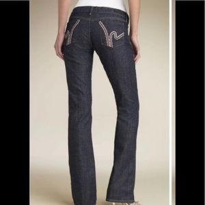 """Citizens of humanity crochet """"h"""" jeans size 29"""